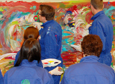Teamcoaching mit Action Painting